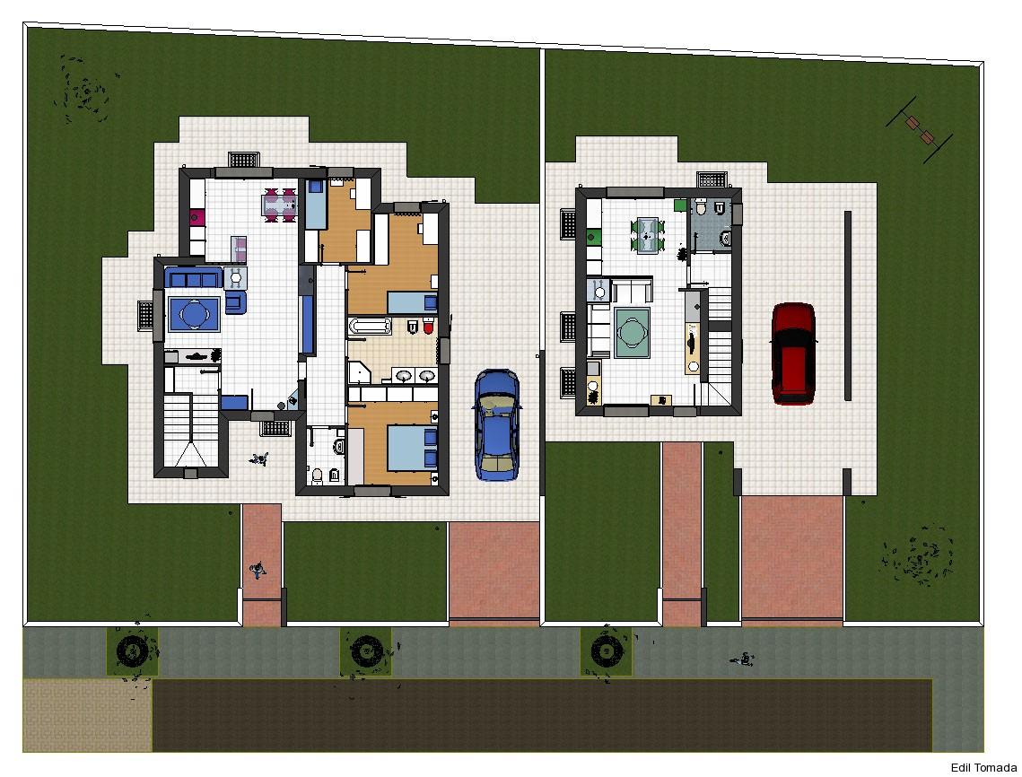 Villa bifamiliare friuli edil tomada for Architettura moderna ville